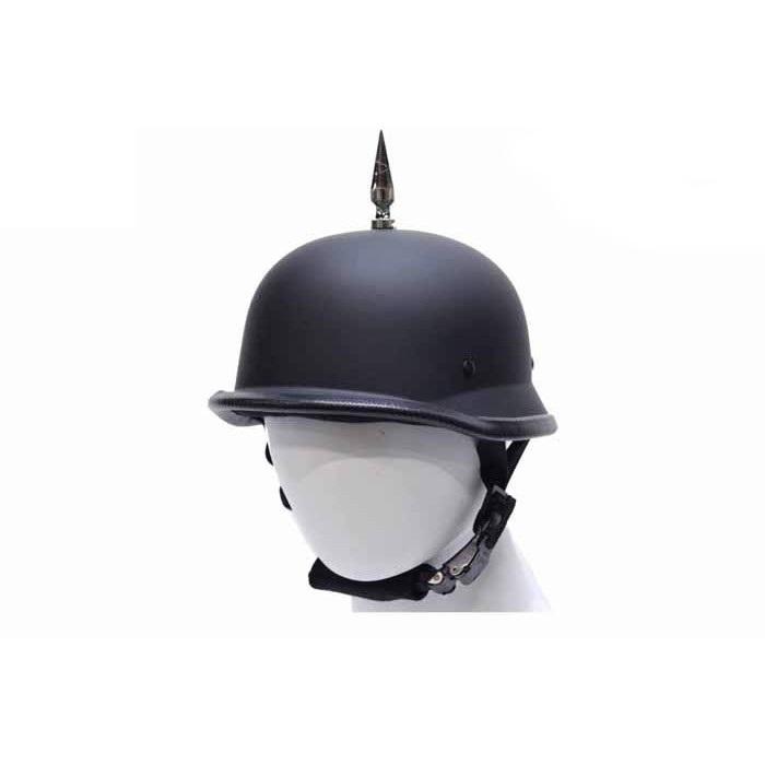 German Flat Black Novelty Helmet With 1 Spike