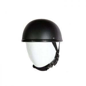 EZ Rider Novelty Flat Black Helmet With Y-Strap & Q-Release