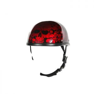 Burgundy Boneyard Eagle Novelty Helmet with Skulls