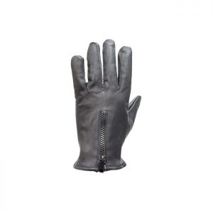 Leather Riding Gloves With Zipper & No Lining