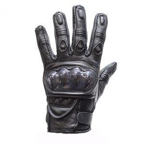 Men's Padded Black Racing Gloves