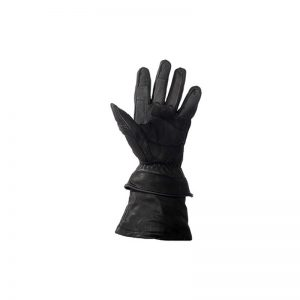 Mens Leather Gauntlet Gloves With Zip Off Cuffs