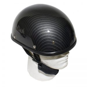Black Carbon Fiber Novelty Helme