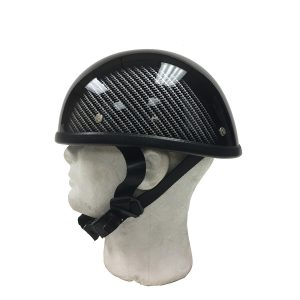Black Novelty Helmet with Motorcycle Tread Design