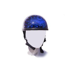 Blue Skull Graveyard Eagle Novelty Motorcycle Helmet