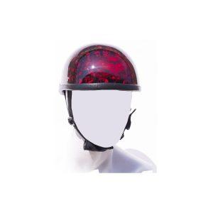 Burgundy Skull Graveyard Eagle Novelty Motorcycle Helmet
