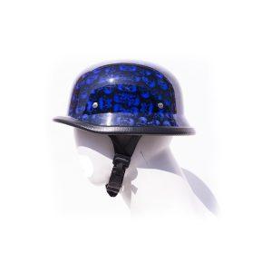 Blue Skull Graveyard German Novelty Motorcycle Helmet