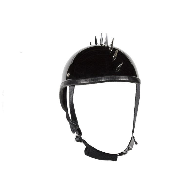 Shiny Black Gladiator Novelty Motorcycle Helmet
