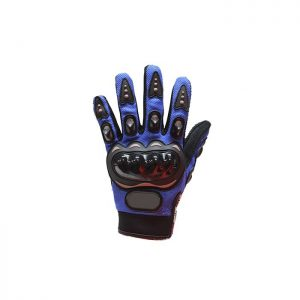 Men's Blue Mesh Racing Gloves