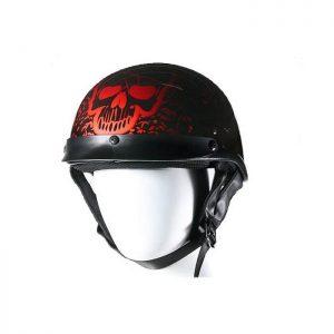 Boneyard Burgundy DOT Approved Helmet