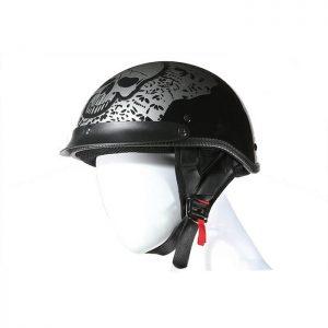 Boneyard Silver DOT Approved Helmet