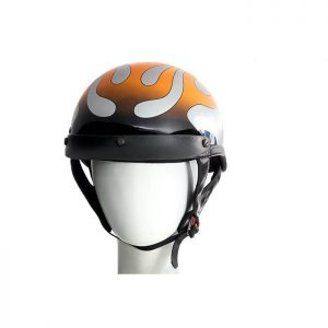 200 Chrome Flame DOT Helmet