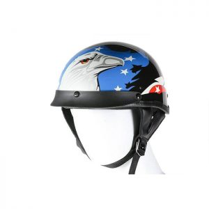 200 DOT Approved Motorcycle Helmet With Eagle Graphic