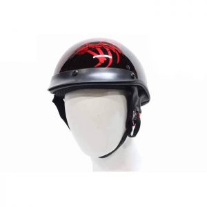 DOT Approved Helmet With Skull & Spider Legs