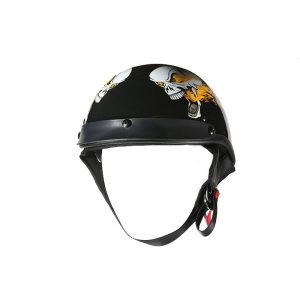 DOT Approved Helmet With Flaming Skull