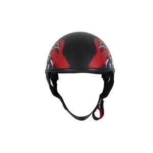 Flat Black DOT Rebel Motorcycle Helmet