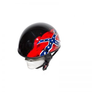 Shiny Black DOT Rebel Motorcycle Helmet
