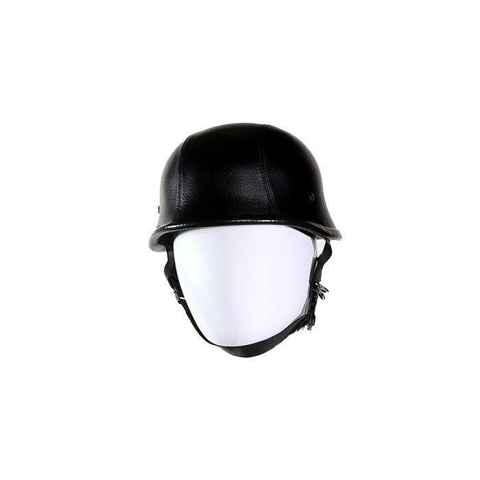 Leather Cover German Style Novelty Motorcycle Helmet