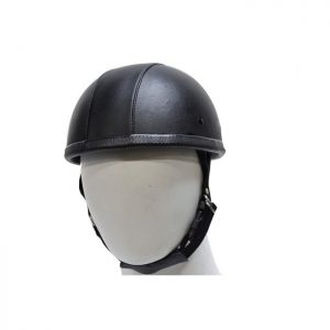 Leather Cover EZ Rider Novelty Motorcycle Helmet