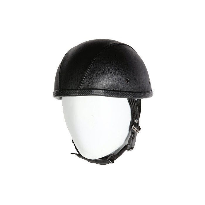 Leather Cover Smokey Novelty Motorcycle Helmet