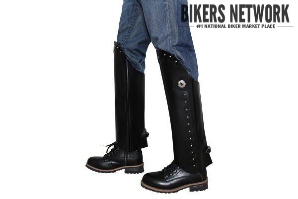 Black Motorcycle Leggings